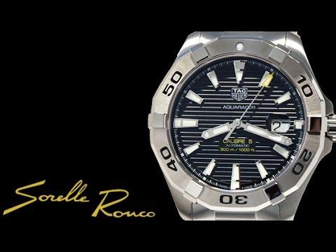 4a6e49776f5 TAG Heuer Aquaracer 300m Calibre 5 Black Dial - YouTube
