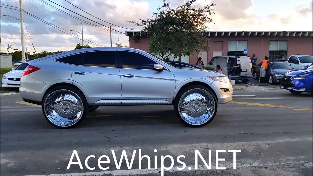 """AceWhips.NET- First Ever Honda Crosstour on 30"""" Forgiatos Ridin - YouTube"""