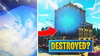 *LEAK* Tilted Towers getting DESTROYED? Castle in Snow Storm! (Fortnite)