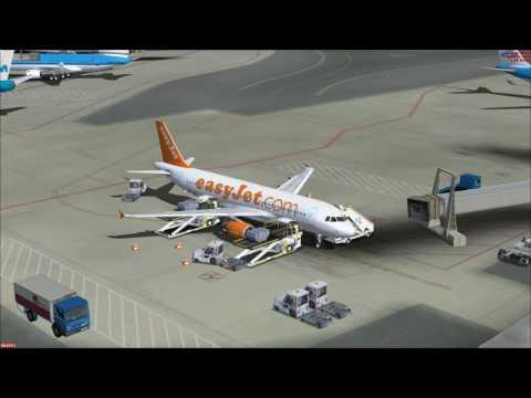 FSX FSLabs A320X Easyjet flight from Amsterdam to Prague