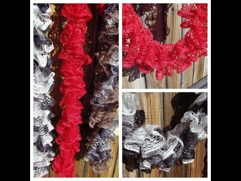 Instruction How To Knit Red Heart Sashay Ruffle Scarf Knitting
