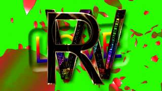 R Love W Letter Green Screen For WhatsApp Status | R & W Love,Effects chroma key Animated Video