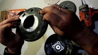 Замена шлифовальной подошвы на шлифмашинке AEG EX 125 ES