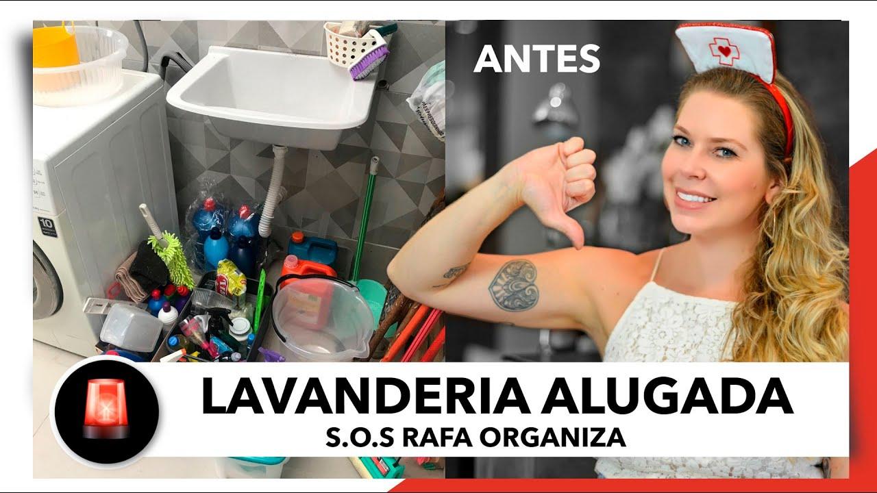 LAVANDERIA PEQUENA E ALUGADA ( ANTES ) | SOS RAFA ORGANIZA