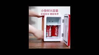Coke 캠핑 차박 미니냉장고 차량 가정 겸용 냉장고 …