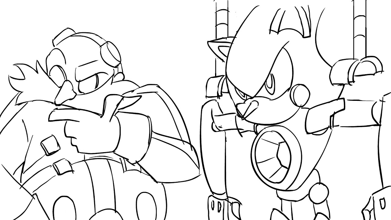 Eggman And Metal Sonic Rough Animation Wip By Chauvels