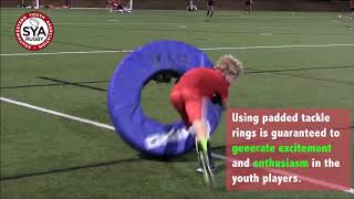 SYA Rugby Tackle and Evasion demonstration using Rhino Tackle Rings
