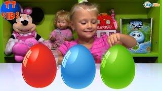 Смешарики Растущие Сюрпризы - Ярослава проводит опыты с водой - Видео для детей Smeshariki toys