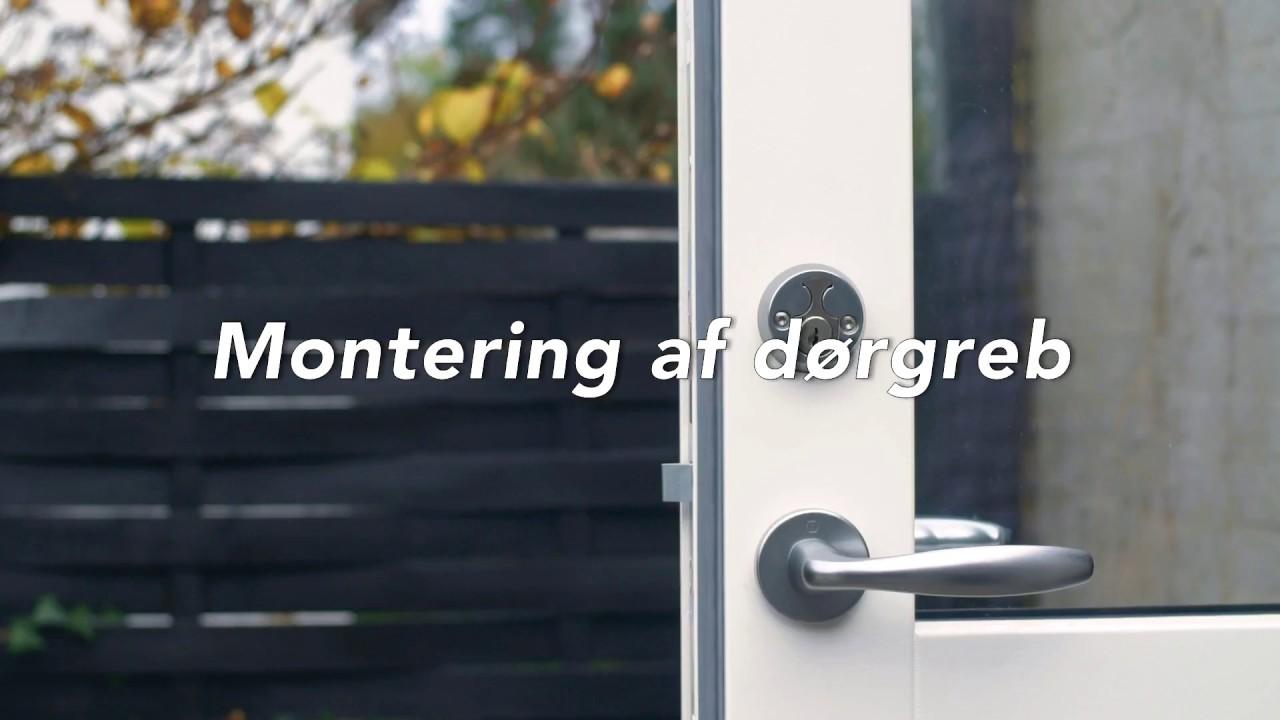 montering af udvendig dør
