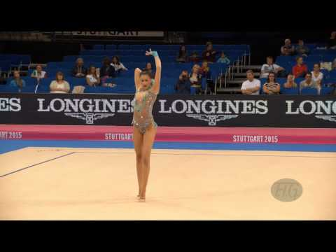 Kyriaki ALEVROGIANNI (GRE) 2015 Rhythmic Worlds Stuttgart - Qualifications Ball