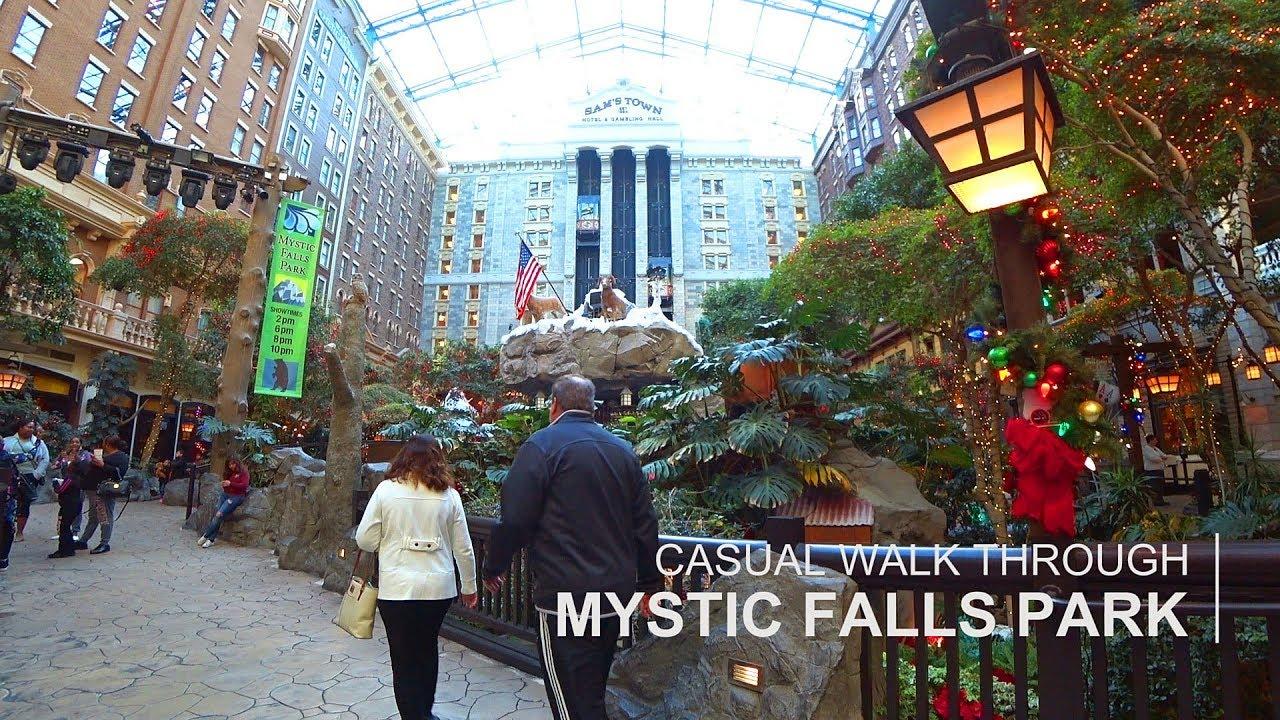 Las Vegas 94 >> Sam's Town Las Vegas - Mystic Falls Park walk through - YouTube