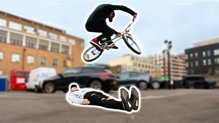 HE JUMPED OVER ME ON A BMX!! *DON'T TRY*