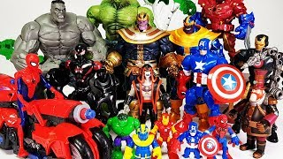 Thanos appeared with Scorpion & Spider, Avengers Go~! Hulk, Iron Man, Spider-Man, Captain America