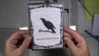 the Raven, a halloween card