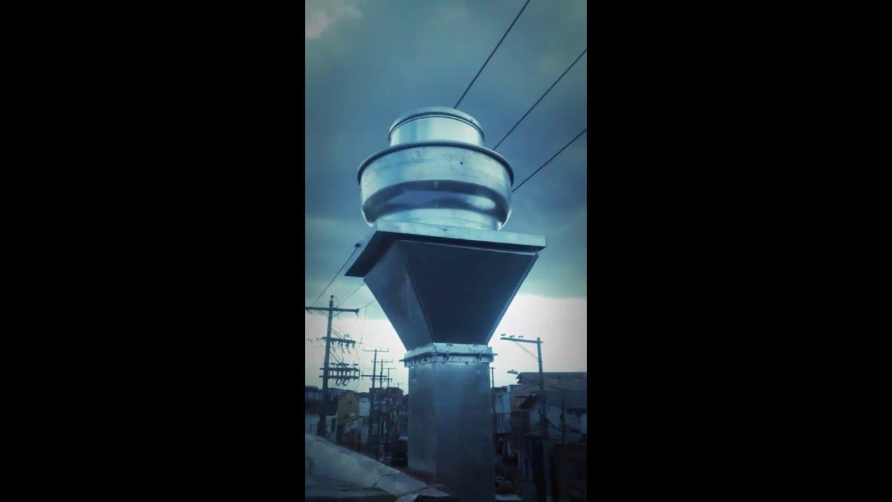 Extractor centrifugo tipo hongo para humo calor y olores - Extractores de humo ...