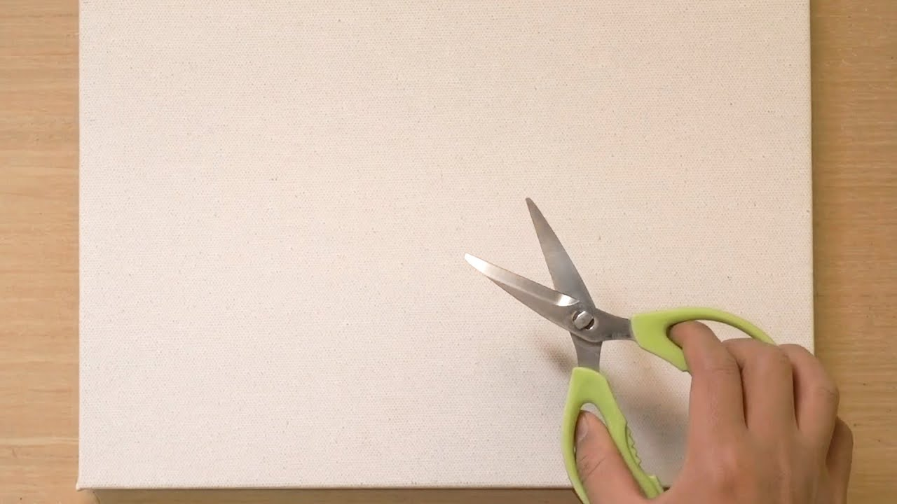 Acrylic Painting Technique Using Scissors
