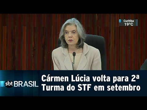 Cármen Lúcia volta para Segunda Turma do STF em setembro | SBT Brasil (14/08/18)