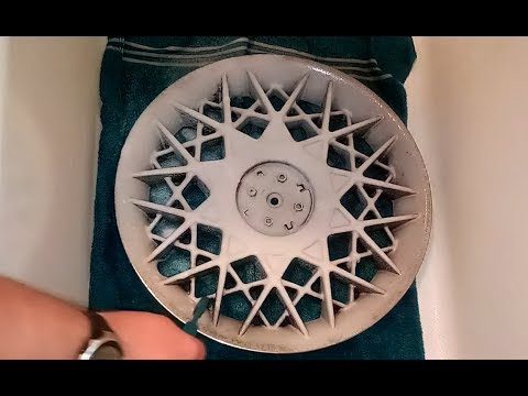 How to Clean Plastic Chrome Hubcaps Wheelcovers Man VS Junk EP 243