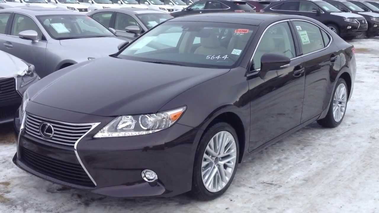 2014 lexus es 350 in red fire agate pearl technology package review youtube. Black Bedroom Furniture Sets. Home Design Ideas