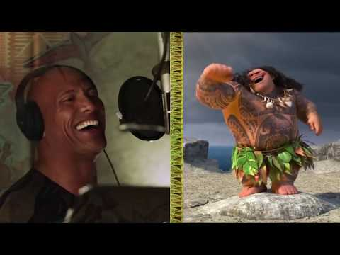 The Rock sing Moana sg youre welcome backstage