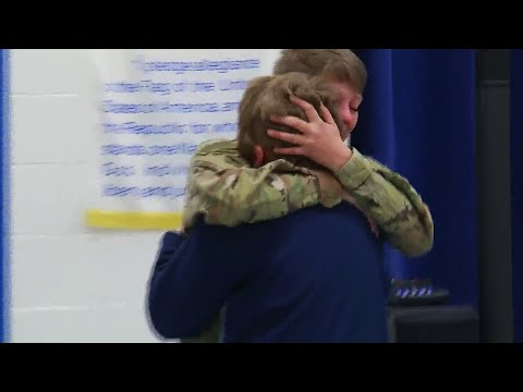 feel-good-friday:-local-mom-returns-from-deployment-to-surprise-son-at-school