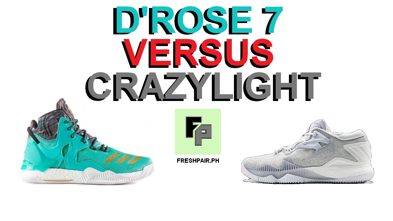 huge discount b0a34 baed8 D ROSE 7 VERSUS CRAZYLIGHT BOOST 2016   One-on-One Matchup