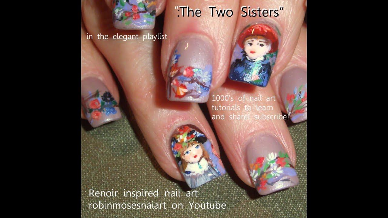 Nail Art On Youtube: Renoir Nail Design - YouTube