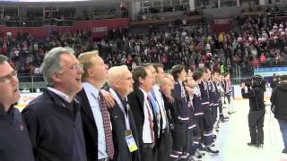 Team USA Sings National Anthem after winning 2013 IIHF World Juniors Gold Medal