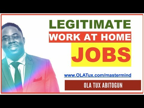 How to Find Legitimate Work at Home Jobs/Work From Home Jobs