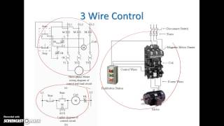 Ladder Diagram Basics #3 (2 Wire u0026 3 Wire Motor Con
