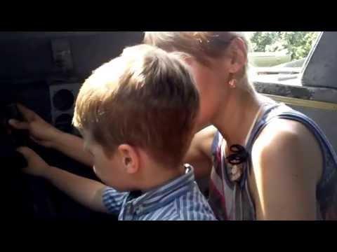 Olya, Misha and I in a B-32