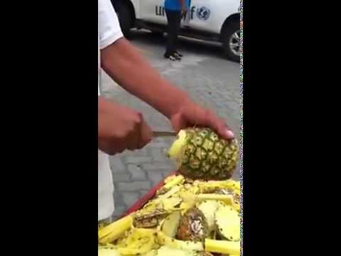 Art of Pineapple Peeling