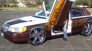 Lincoln Town Car On 26s Bagging By Youtuben On A Budget