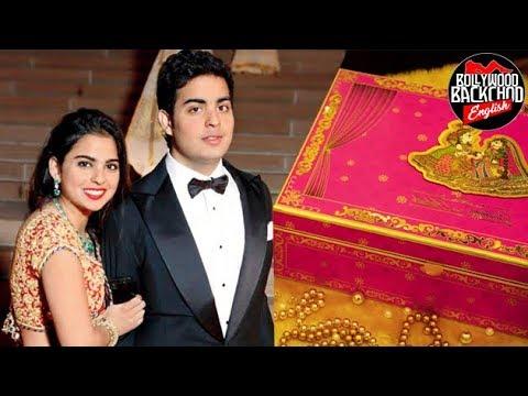 Mukesh Ambani S Son S Wedding Card Is Unbelievably Costly Youtube