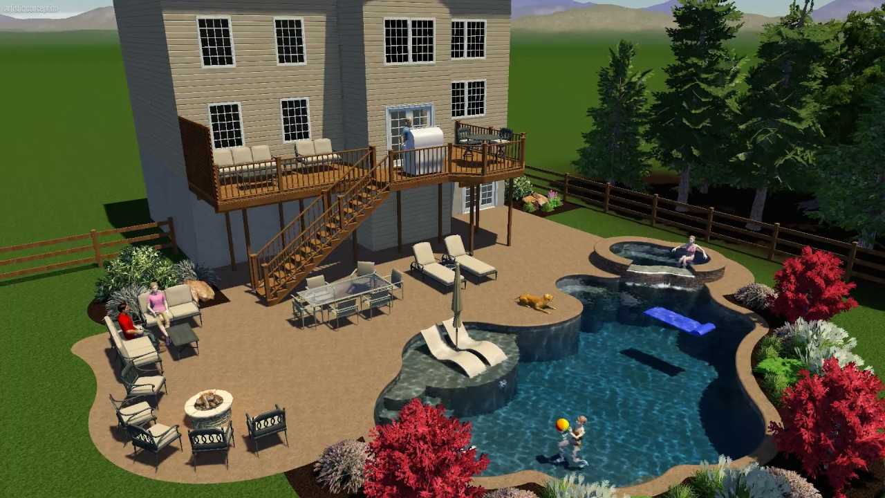 3d pool design by Monogram Custom Pools in Lehigh and Bucks County ...