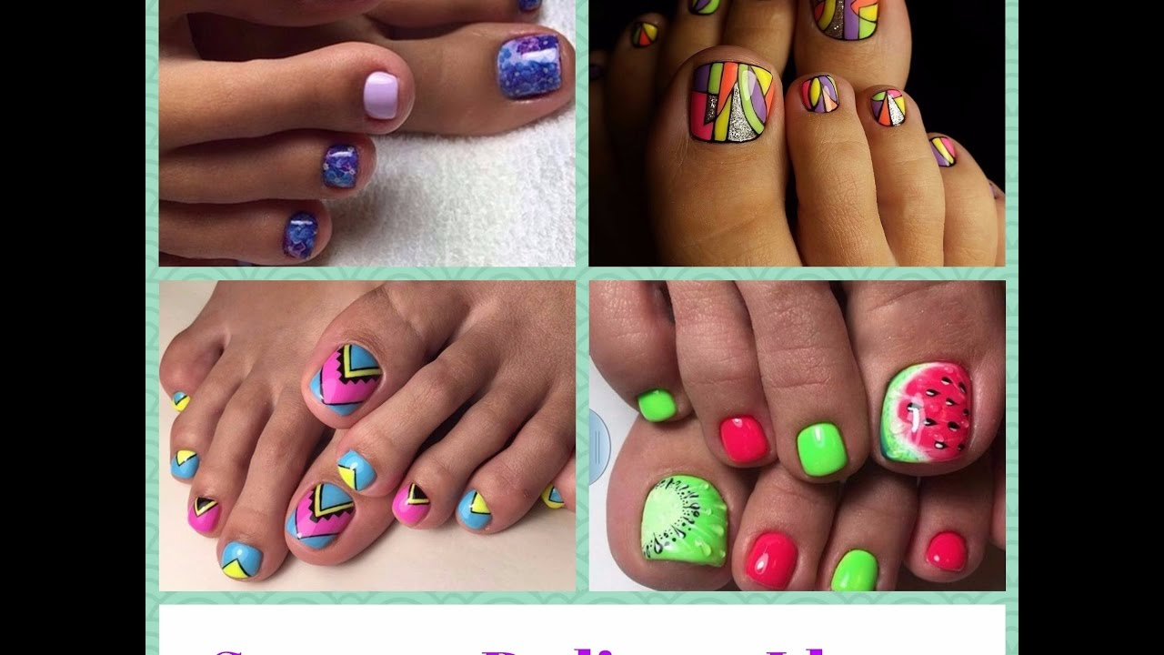 Summer pedicure ideas toenail art designs youtube summer pedicure ideas toenail art designs prinsesfo Image collections