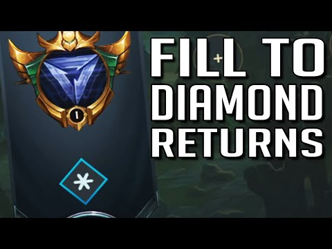 League of Legends but I intentionally fill to try and get diamond