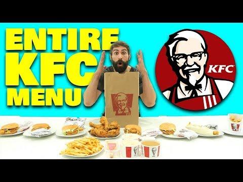 10 Min Entire KFC Menu Challenge