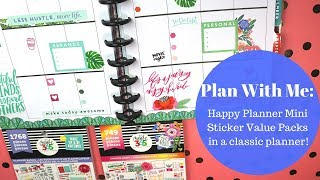Plan With Me: Mini Stickers in Classic Planner