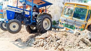 Swaraj 744 FE Tractor pulling heavy weight lorry | #comefromvillage