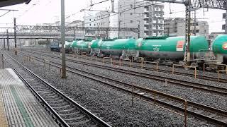 国鉄色EF65が牽く石油返空列車