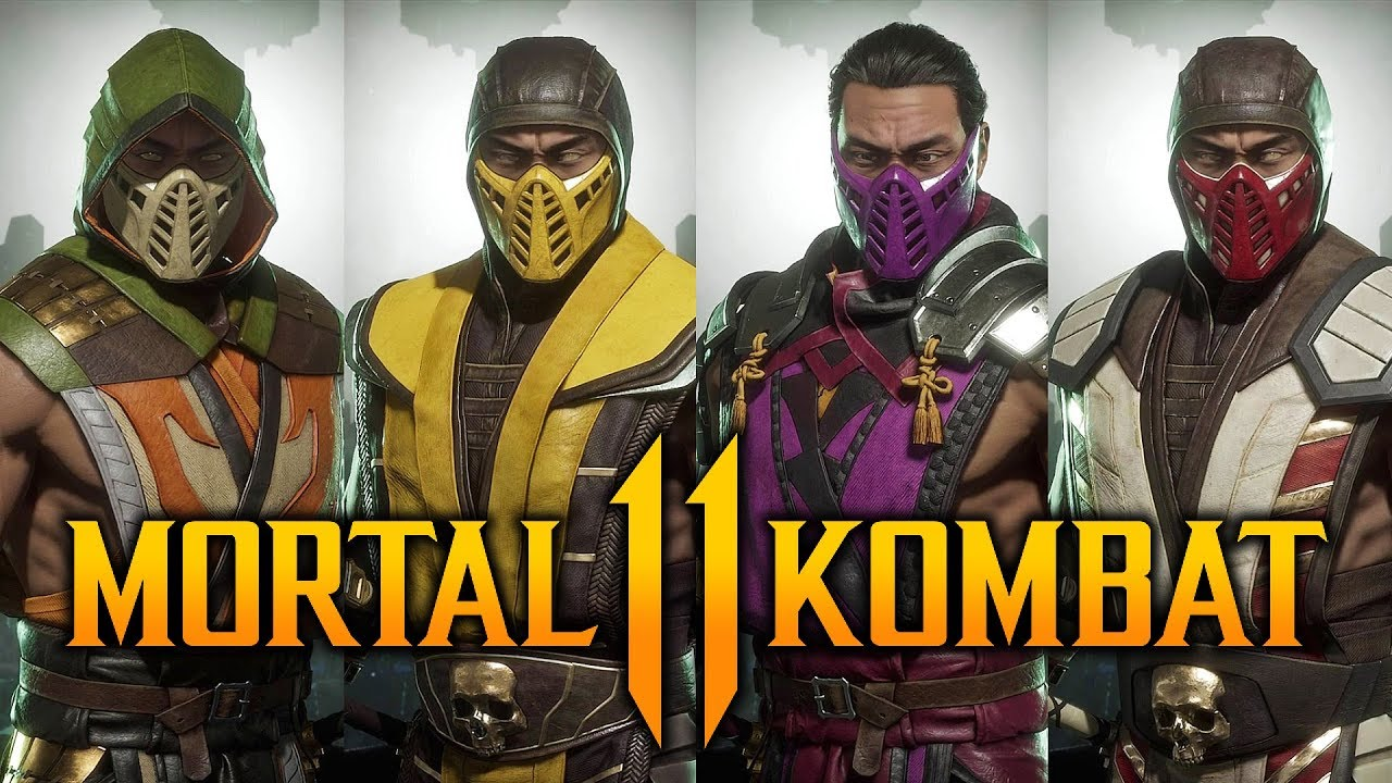 scorpion mortal kombat no mask