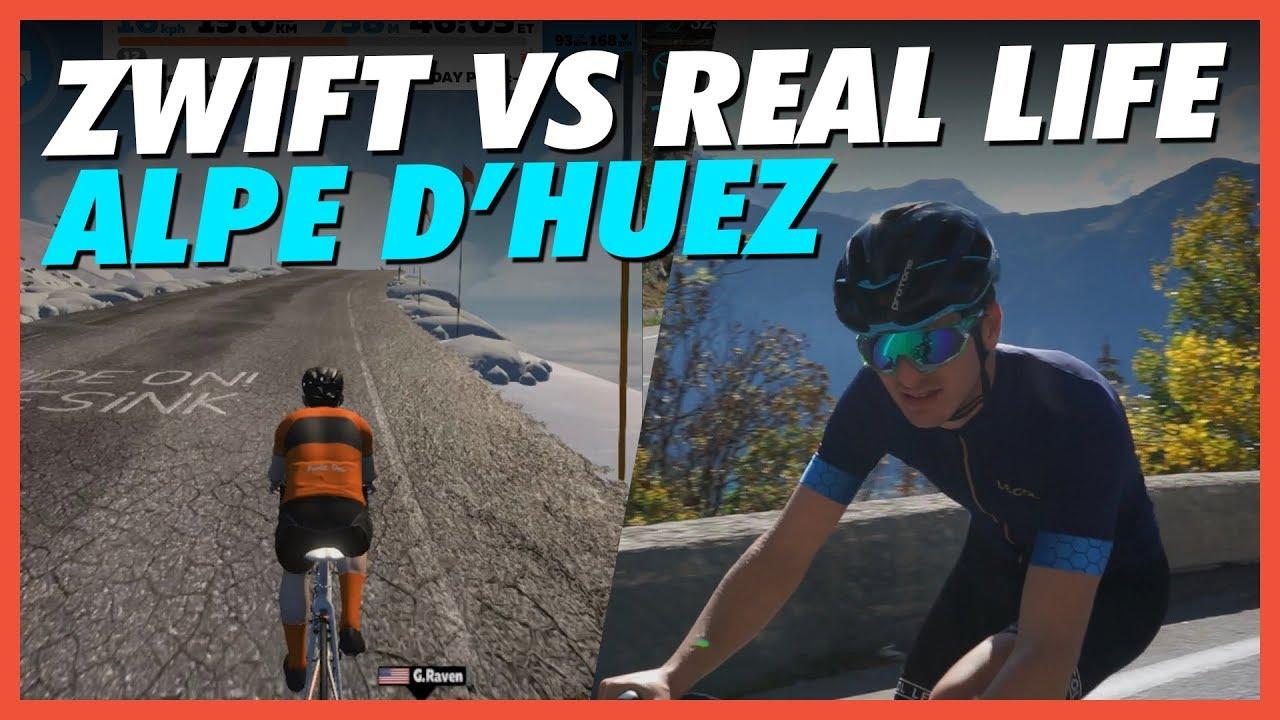 Zwift Vs Real Life: Alpe d'Huez Challenge