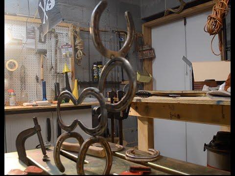 DIY Horseshoe Reindeer Christmas Welding Project