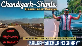 Ep.1|NH-5🛣|Best Highway in India🤩|Latest Chandigarh-Shimla⛰|Going Hometown|Kumarhatti Flyover|