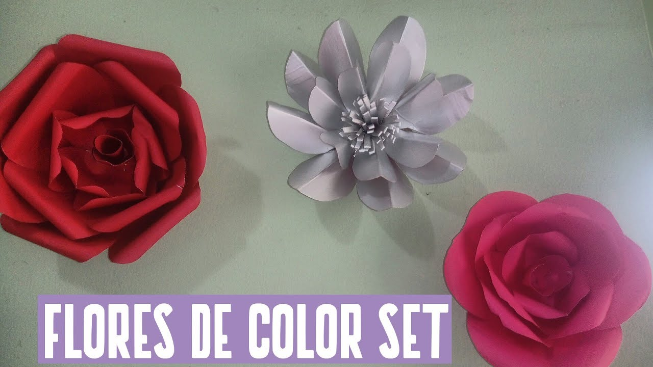 Como Fazer Flores Com Papel Color Set Youtube