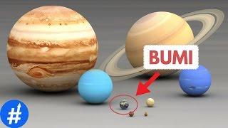 Perbandingan Ukuran Bumi, Planet, Matahari Dan Bin