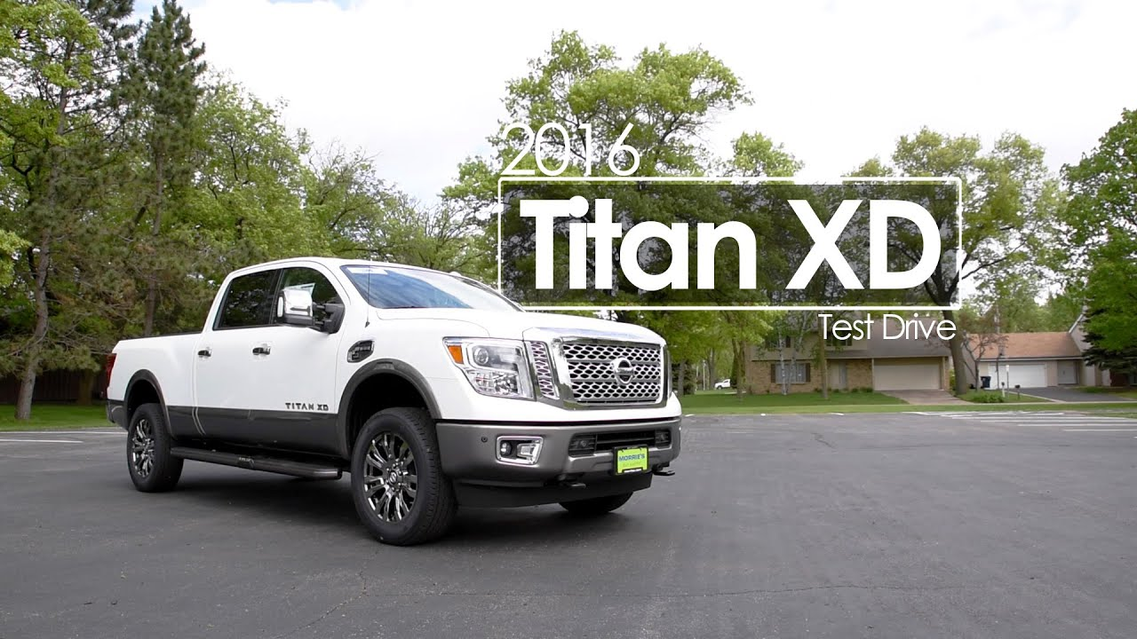 2016 nissan titan xd review test drive cummins diesel platinum reserve youtube. Black Bedroom Furniture Sets. Home Design Ideas