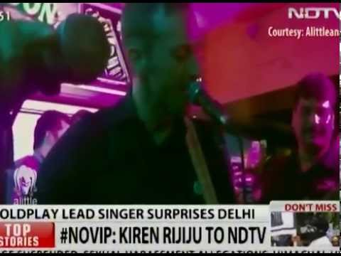 Coldplay's Chris Martin is in India and is Partying in Delhi!