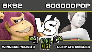 Game Nest Smash It Up: SK92 (Donkey Kong) vs SoGoodPop (Wii-Fit Trainer) - Winners Round 3
